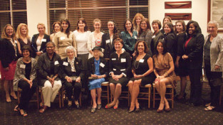 President Lynn Pasquerella '80 visited Miami on January 7, where she met with a group of alumnae including Mount Holyoke's oldest alumna. Anita Schuck (seated to President Pasquerella's immediate right) is 108 years old and a member of the class of 1924.