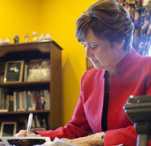 President Lynn Pasquerella '80 in her office