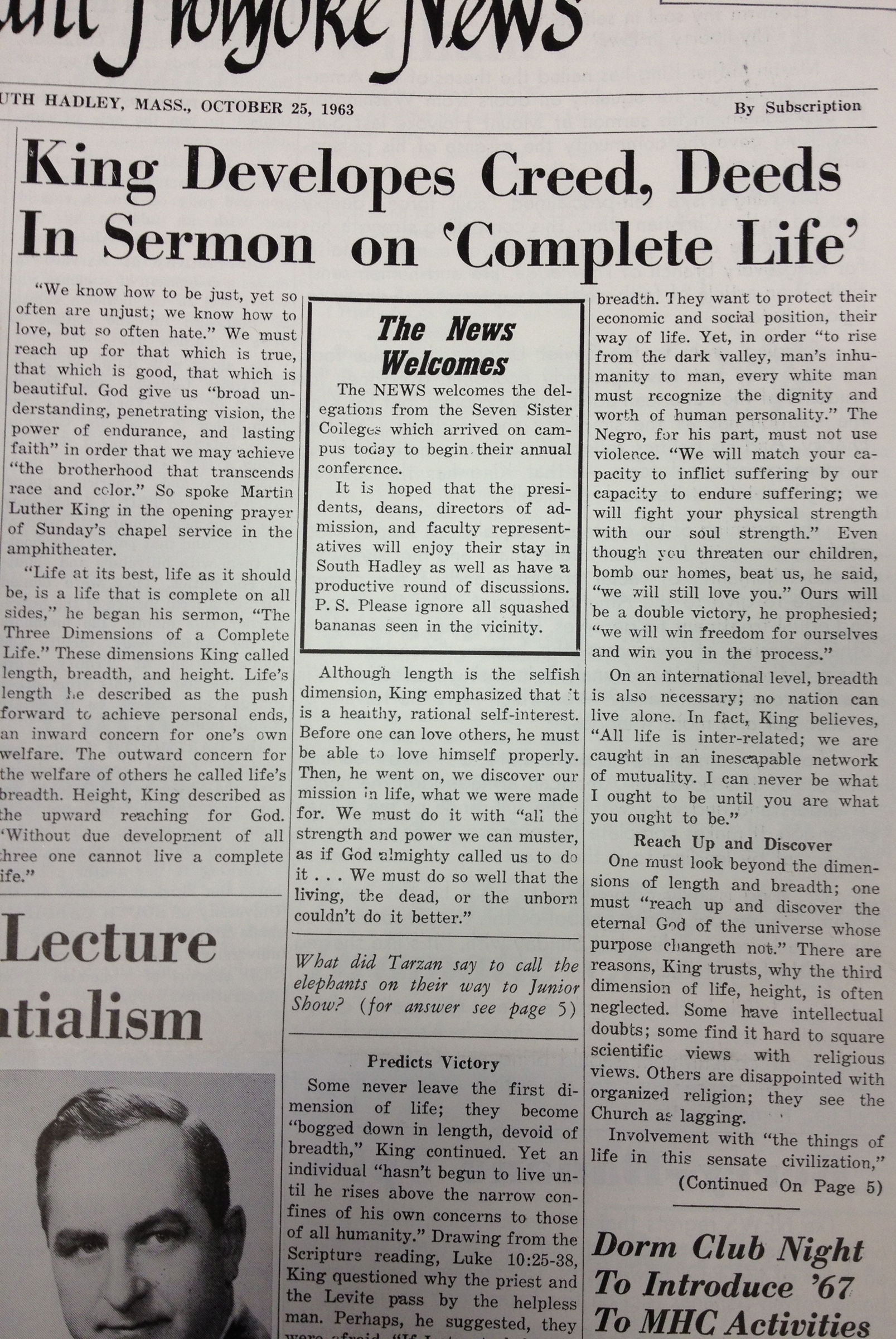 martin luther newspaper article